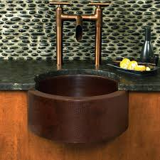 Hammered Copper Apron Front Sink by Sinks Hammered Copper Prep Sink Apron Round Square Kitchen Bar