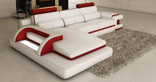 canap desing deco in canape d angle cuir blanc et design avec