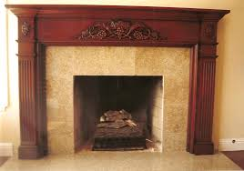 interior dark wood fireplace mantels with tile fireplace and tile