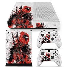 xbox one console with kinect amazon in video games microsoft xbox one s skin decal sticker set deadpool 1 console