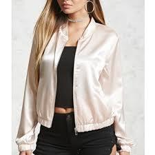 light pink blazer forever 21 forever 21 light pink satin bomber jacket from hailey s closet on