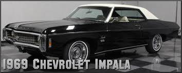 1969 chevrolet impala factory paint colors