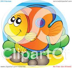 royalty free vector clip art illustration of a tropical fish logo