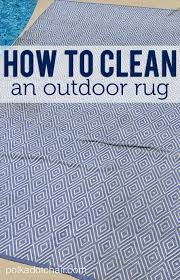 cleaning outdoor rugs how to clean an outdoor rug the polka dot chair do it yourself