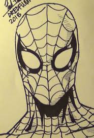 draw spiderman head dredfunn tutorial