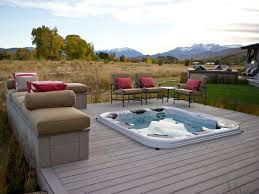 Backyard Wood Deck Decks With Tubs The Outstanding Home Deck Design Homesfeed