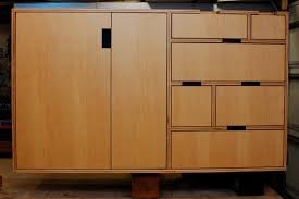 furniture pretty mocha kerf cabinets made of wood for home
