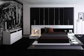 Modern White Leatherette Platform Bed Home Interior Design 27654
