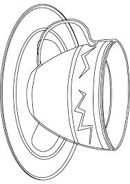 cup free coloring page