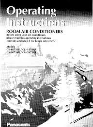 panasonic air conditioner cs 1873kr user guide manualsonline com