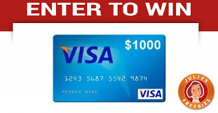 1000 gift card enter to win a 1000 visa gift card julie s freebies