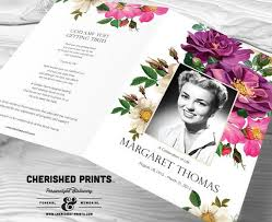 memorial program ideas flowers funeral program funeral folder celebration of