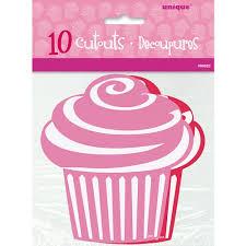 paper cut out cupcake valentine decorations 10 count walmart com