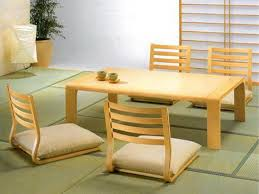 Zen Furniture Charming Japanese Dining Table Style With Zen Accent Designs