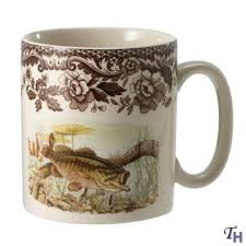 woodland american fish mug large bass by spode