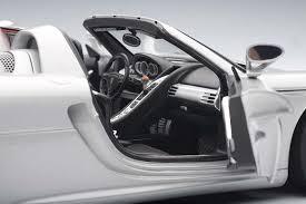 silver porsche carrera silver with black interior porsche carrera gt autoart au78046
