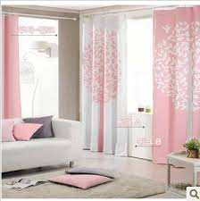 Pink And Grey Curtains Fashion Korean Style Ployester Blackout Curtain Pink Grey Coffee