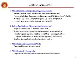 army review boards agency arba ppt video online download