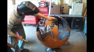 img on building a large custom steel fire pit x modern garden