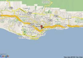 santa barbara california map map of inn express santa barbara santa barbara