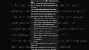 kuota gratis indosat januari 2018 cara transfer kuota internet indosat terbaru 2018 youtube