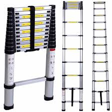 ladder wolfwise 12 5ft en131 upgrade telescoping ladder decoration
