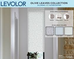 Levolor Panel Track Blinds levolor custom shades now available in new colors patterns and