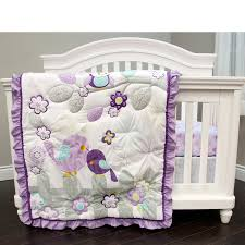 Purple Nursery Bedding Sets by Baby U0027s First Love Birds Purple 3 Piece Crib Bedding Set By Baby U0027s