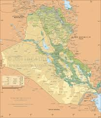 map of irak map of iraq the middle east information