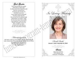 Template For Funeral Program Simple Funeral Program Memorial Booklet Sample