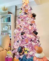 lavendermas tree fl 6ft 2 ornaments skirts purple