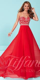 proms chiffon strapless dress tiffany designs cheap stores near
