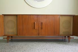 Media Console Furniture by Furniture Mid Century Media Credenza With Drawer And Door Also