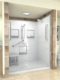 Handicap Bathroom Design Shower Options Acrylic Shower Base Pan Options Wonderful
