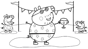 peppa pig daddy pig coloring book coloring pages video for kids