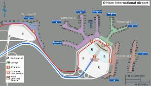 Blue Line Chicago Map by Chicago O U0027hare International Airport