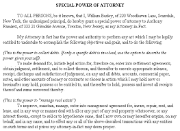 example document for special power of attorney