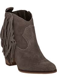 Brown Fringe Ankle Boots Steve Madden Ohio Fringed Suede Boots In Brown Lyst