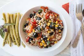 Mediterranean Style Food - barley roasted vegetable skillet salad mediterranean style by