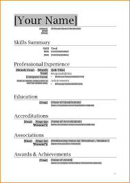 7 resume template for microsoft word 2007 skills based resume