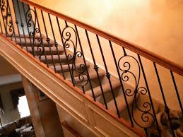 Wrought Iron And Wood Banisters Wrought Iron Stair Balusters Designs Home Design By Larizza