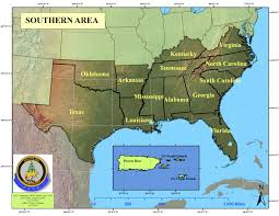 Map Of Southeastern Usa by Southern Area Coordination Center