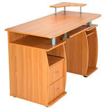 Kleiner Schreibtisch Buche Computertisch Pc Tisch Arbeitstisch Mit Schubladen Schreibtisch