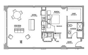 one bedroom floor plan floor plan 1e junior house lofts