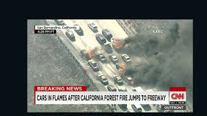 California Wildfires Highway Closures by Cars Set Ablaze As Wildfire Jumps California Freeway Cnn
