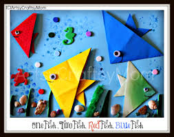 one fish two fish dr seuss craft origami fish artsy craftsy mom