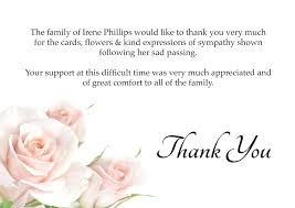 funeral thank you cards funeral thank you cards pink roses