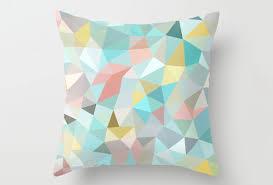 Modern Throw Pillows For Sofa 20 Soothing Geometric Pastel Modern Throw Pillows Home Design Lover