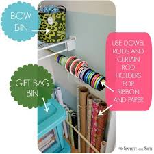 Craft Room Closet Organization - 43 best orgaised wapping images on pinterest gift wrap storage