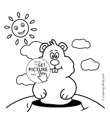 groundhog day coloring pages for kids 2 february printable free